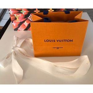 Authentic Louis Vuitton Gift Shopping Bag & Ribbon